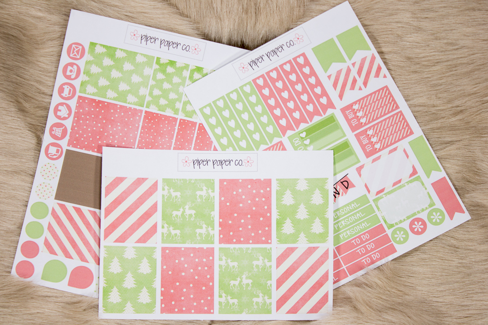 Piper Paper Co. Vintage Christmas Sticker Set