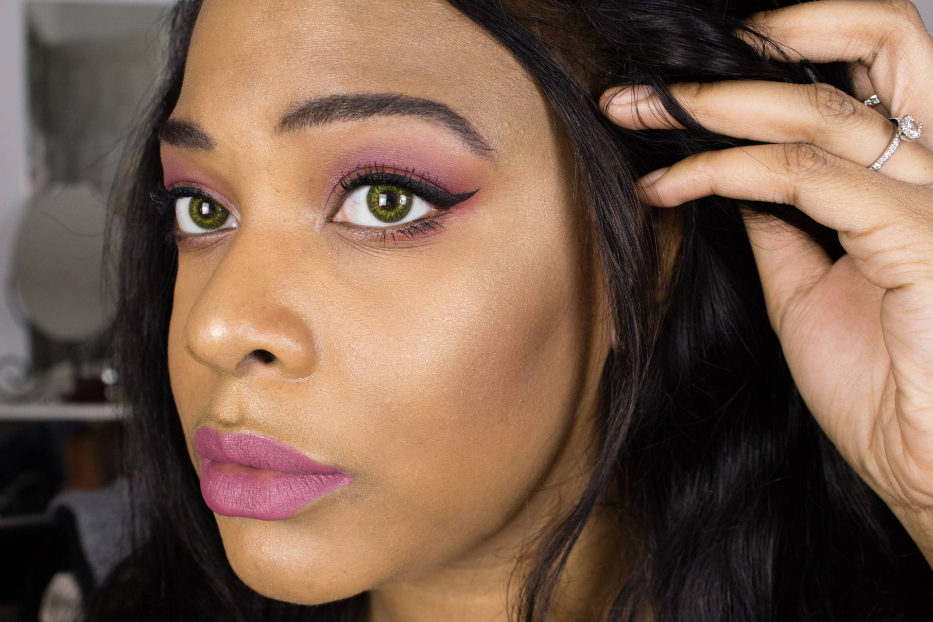 Pastel Grunge makeup on dark skin