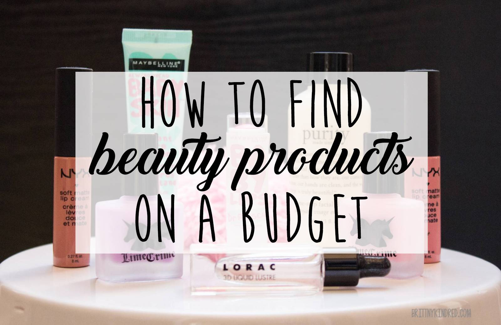 discount beauty products on a budget