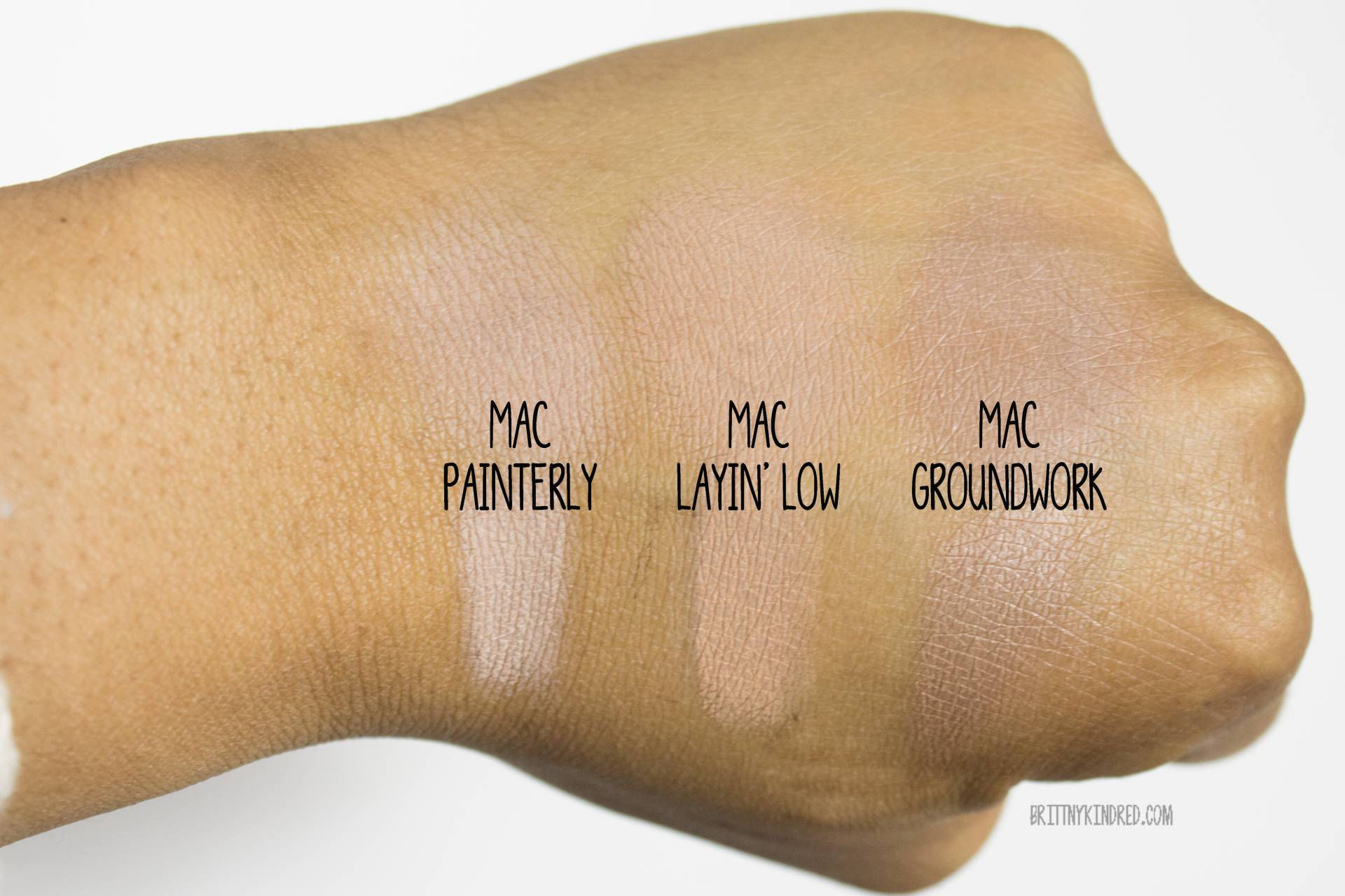 Mac Paint Pots swatches on dark skin