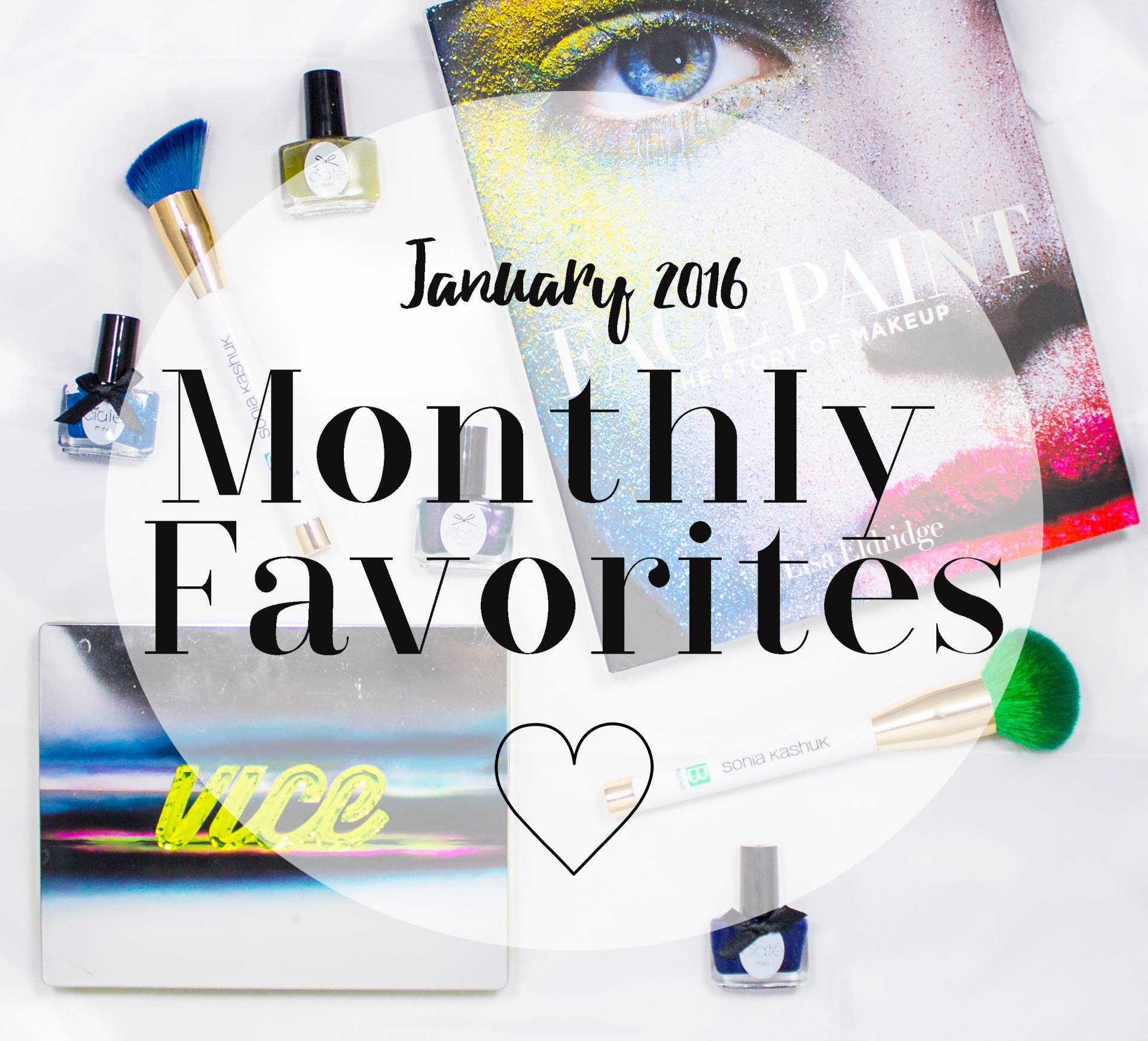 january monthly favorites spread