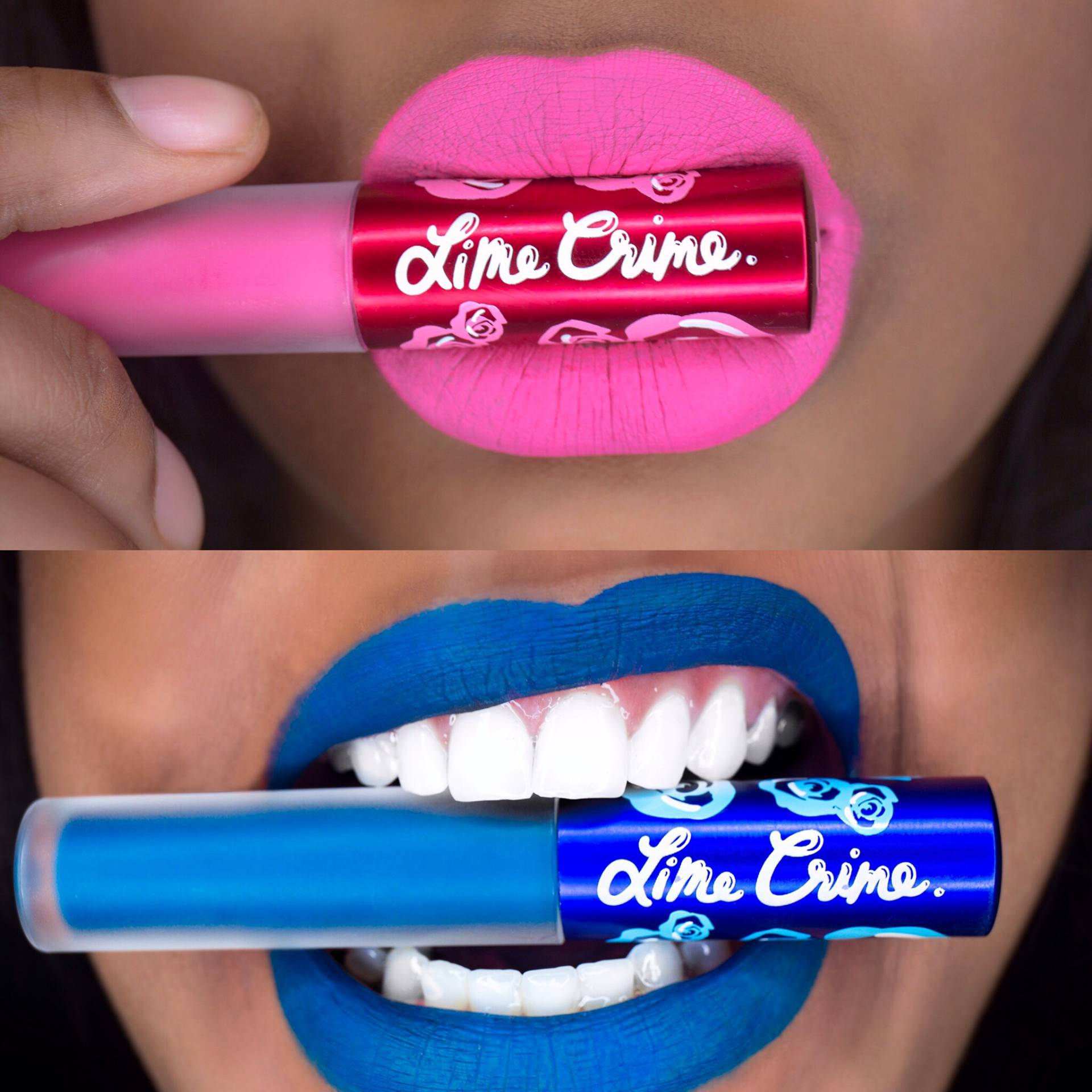 Lime Crime Flamingo Peacock Velvetine on Dark Skin