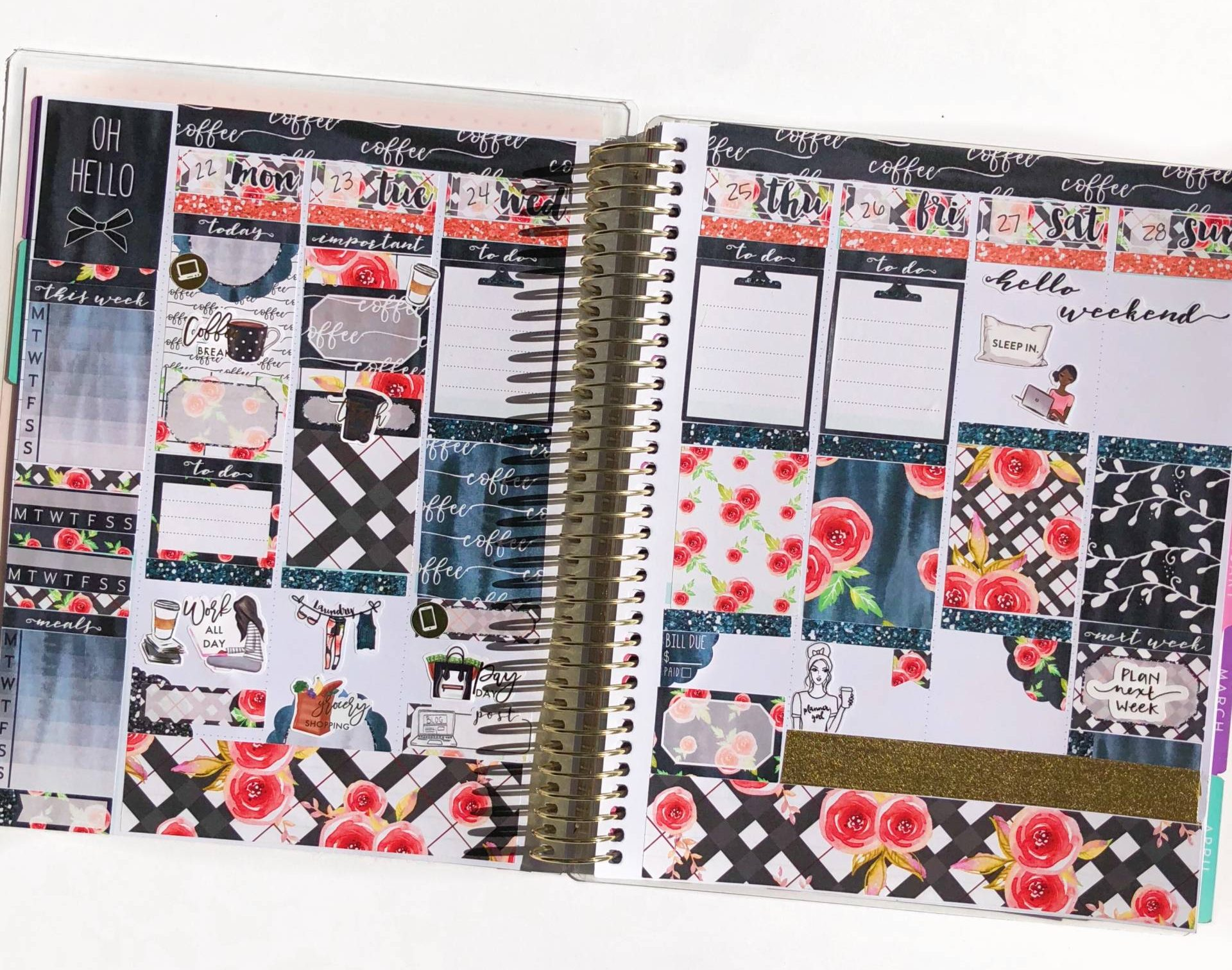 weekly planner spread january
