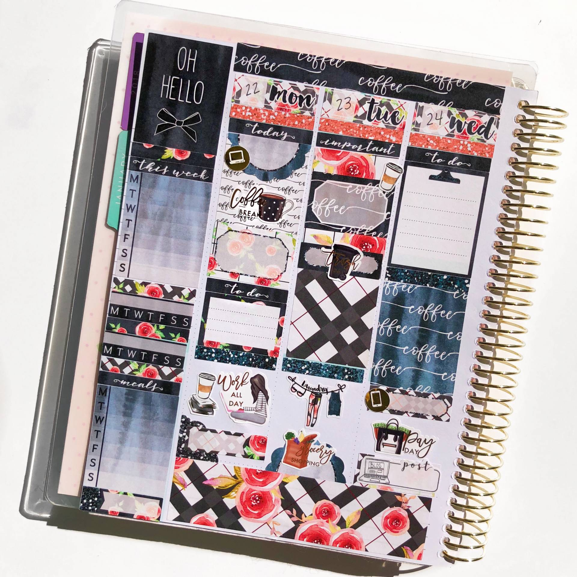 before the pen weekly planner spread january 2018