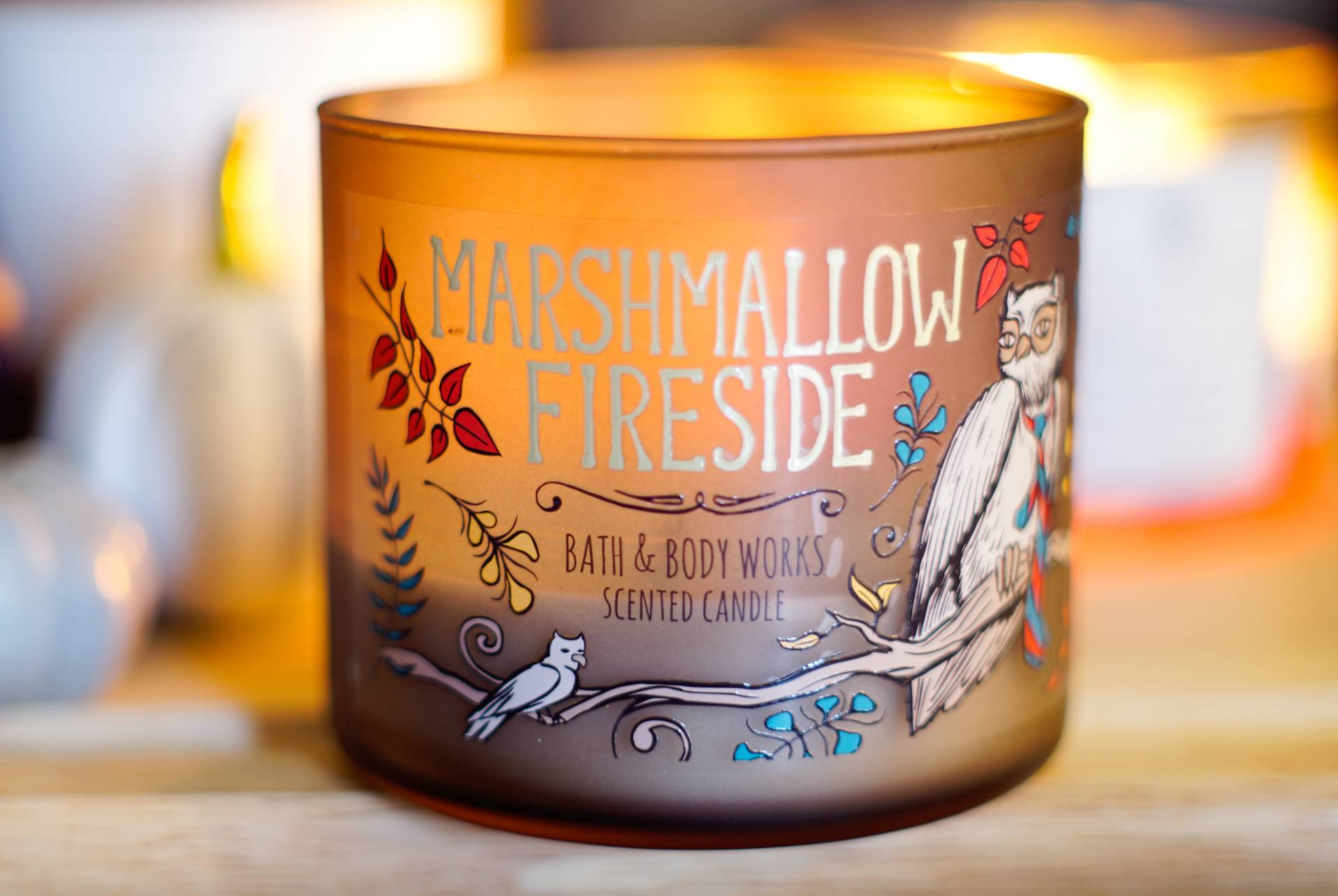 bath and body works bbw marshmallow fireside candle review