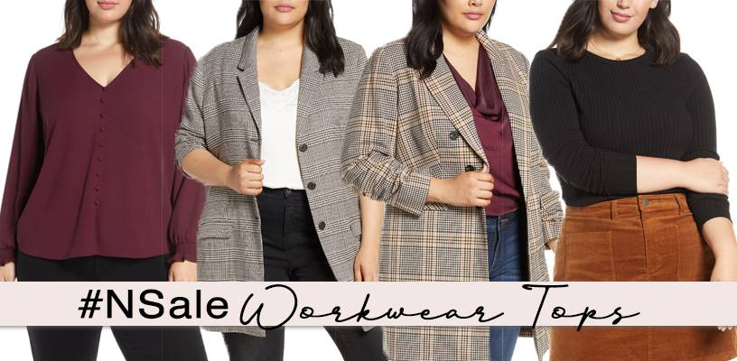 nordstrom anniversary sale plus size workwear tops