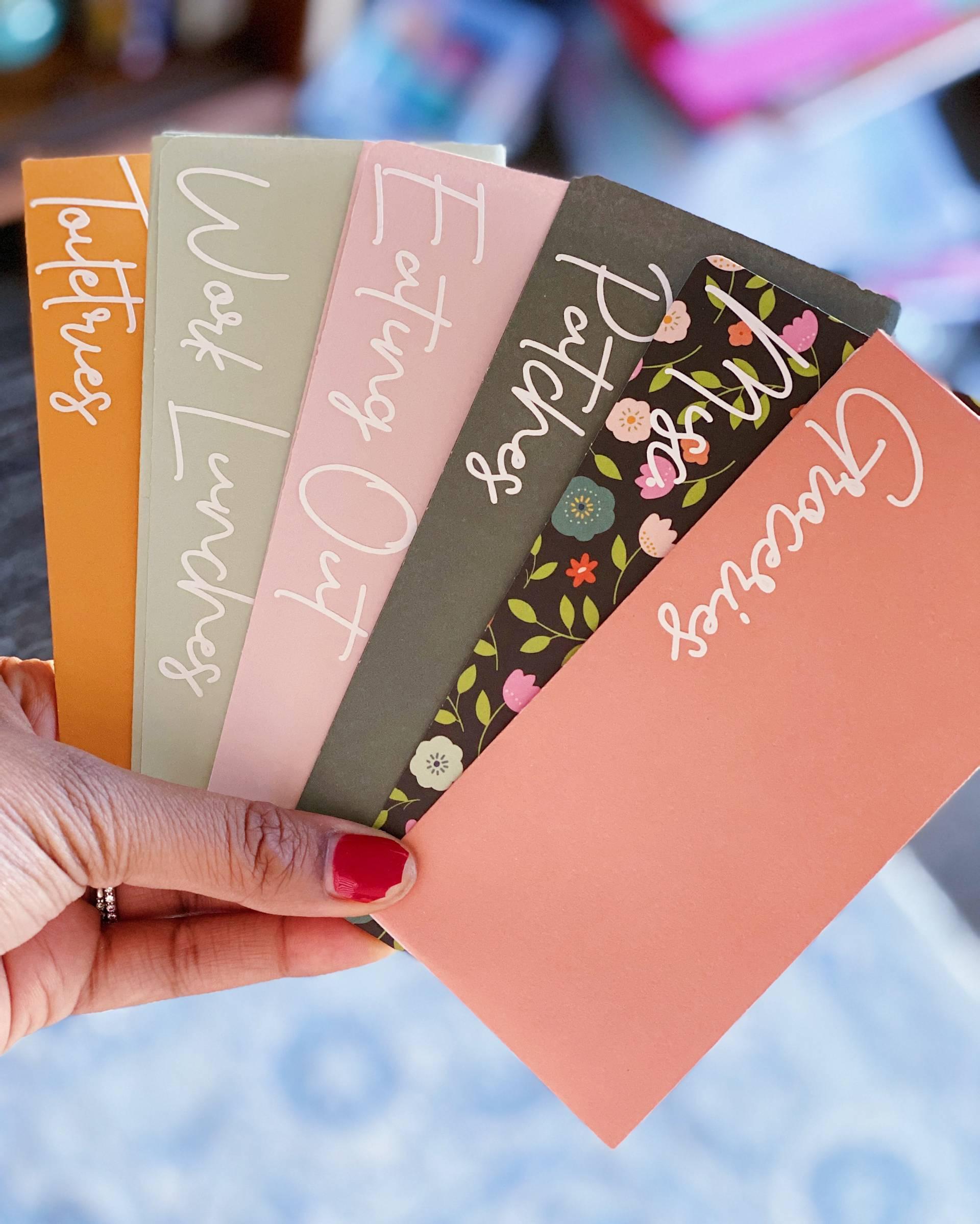 cute cash envelopes for millennials manage cash flow budget 2020